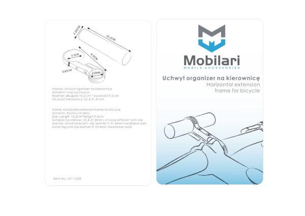 MOBILARI ALUMINIOWY UCHWYT ORGANIZER NA KIEROWNICĘ EXTENDER M111028