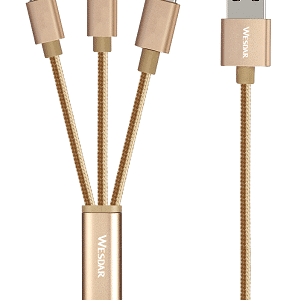 KABEL 3W1 IPHONE MICRO-USB